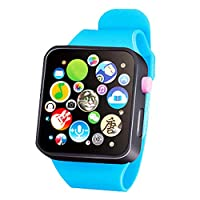 Behavetw Smartwatch, Early Learning 3D Touch Screen Smart Wrist Watch Animal Farm Keyboard Electrical Piano Child Musical Toy Gift for 3-6 Years Old Baby Kids(#1)