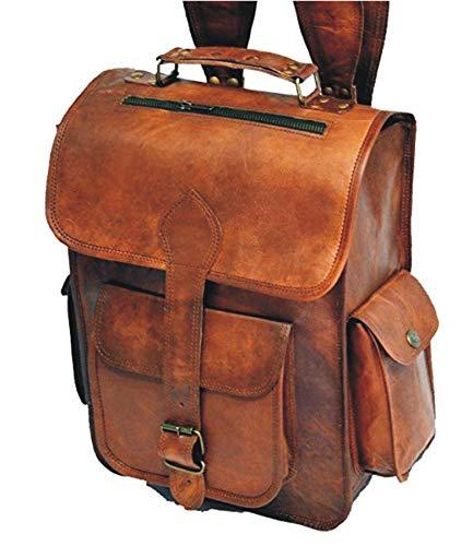 CLASSYDESIGN Leder-Rucksack, Vintage-Design, handgefertigt - Handgefertigtes Leder-rucksäcke