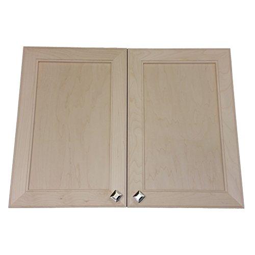 Eine Tür Curio (Wood Cabinets Direct Maxwell Medizinschrank mit 2 Türen, Rahmenlos, 61 cm hoch)