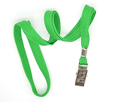 Bird Fiy® 50 Pcs Cotton Lanyard Bulldog Clip 32-inch Flat Braid Neck Lanyard for Id Cards/badges