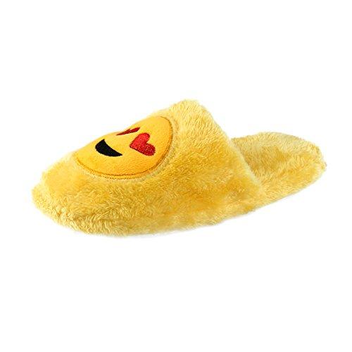 Sunnywill Chaussons D'expression QQ, Pantoufles de Dessin Animé Mignon Unisexe Emoji, Chaud Doux Intérieur Chaussures