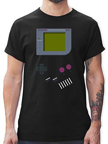 Kostüm Nerdy Mann - Nerds & Geeks - Gameboy - XXL - Schwarz - L190 - Herren T-Shirt und Männer Tshirt