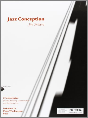 Jazz Conception for Bass - 21 solo etudes for jazz phrasing, interpretation and improvisation - bass - method with mp3 CD - [Language: English & German & French] - (ADV 14728)