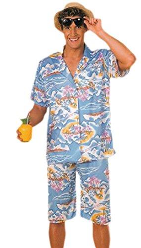 Confettery - Herren Hawaii Urlauber, Tourist, Kostüm, Karneval, M/L, Mehrfarbig (Tourist Halloween Kostüm)