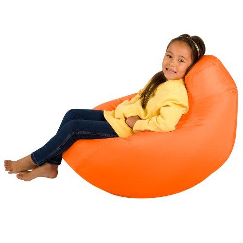 Bean Bag Bazaar Kids Gaming Chair - Large, Orange, 80cm x 70cm - Childrens Indoor Outdoor BeanBag