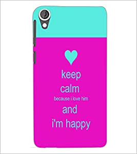 PrintDhaba Quote D-2629 Back Case Cover for HTC DESIRE 820 (Multi-Coloured)