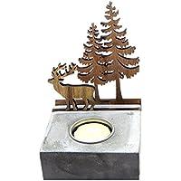 Ciervos de titanio y árbol de Navidad incluye el Tealight