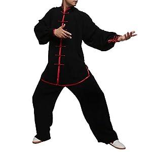 Fließender Unisex Samt Anzug für Tai Chi und Freizeit im Chinesischen Stil #101