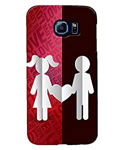 Fuson Love Couple Back Case Cover for SAMSUNG GALAXY S6 - D3996