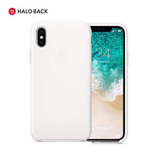 Halo Back Liquid Silikon Schutzhülle für iPhone X/XS/XR/XS Max (Sky Blue, XS Max), XS Max, weiß Iphone Sky Blue Skin