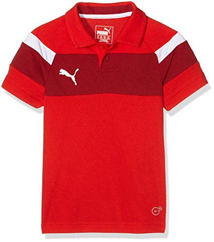 Puma Kinder Polo Shirt Spirit II, Red-White, 164, 654660 01