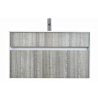 Aquariss Luxury 800mm Ash Single Drawer Bathroom Furniture Wall Hung Vanity Unit + Basin