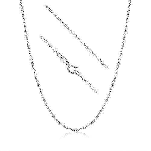 kezef 925Sterling Silber 1,3mm Kabel Kette Halskette MADE IN ITALY (28in) -