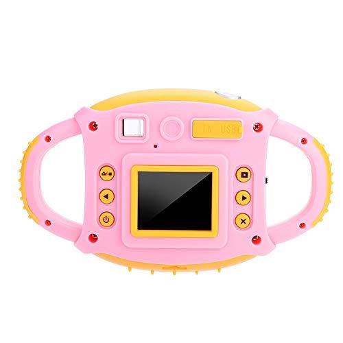 Elerose Kinder Kamera 1,8 Zoll HD 5MP Nette Spielzeug Action Kamera mit Seilf Funktion für Jungen Mädchen Geschenk(pink)