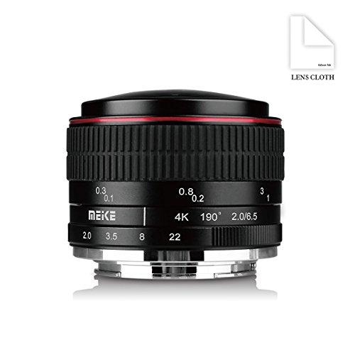 Meike MK 6,5 mm f/2.0 Fisheye Obiettivo Lenti per Sony E-Mount Fotocamere