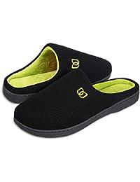 HMIYA Pantofole da casa per Donna Uomo Inverno Peluche Memory Foam Ciabatte da casa - Ultra-Leggero, Antiscivolo, Caldo, Confortevole