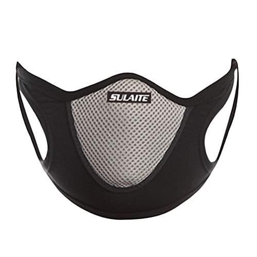 RENNICOCO Staubmaske Luftfilter Gesichtsmaske Allergie-Maske für Motorräder Sport Holzbearbeitung Staubdicht Anti Pollution Pollen Allergie PM2.5 Gas zum Laufen Gehen Radfahren