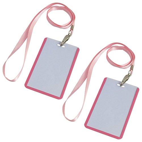 Los titulares Nombre B8 Rosa Oficina de la cuerda de seguridad vertical de Tarjetas de identificación 2 de las PC de la escuela