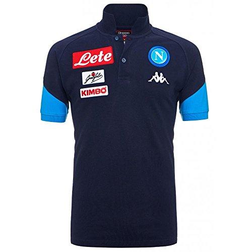 2017-2018 Napoli Cotton Polo Shirt (Navy) (Napoli Soccer Shirt)