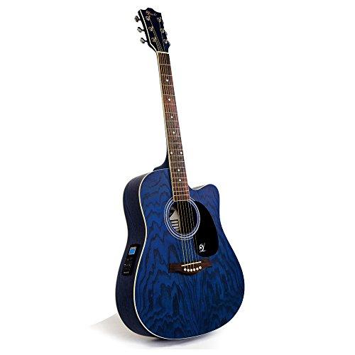 """Lindo """"Willow"""" Elektro-Akustische Gitarre mit Vorverstärker/digitalem Tuner/XLR-Ausgang/Klinkenbuchse und Gitarrentasche"""