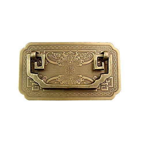 Maniglie e Pomelli Maniglie in ottone ispessito in stile cinese tradizionale for mobili, maniglia for cassetto della porta in bronzo antico classico vintage retrò, viti incluse Per Armadio Cucina Arma