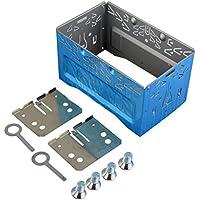 Mengonee Car Stereo reinstalación Audio Facial Marco del Panel ISO 2DIN Jaula de Metal con los Soportes de instalación Tornillos Keys