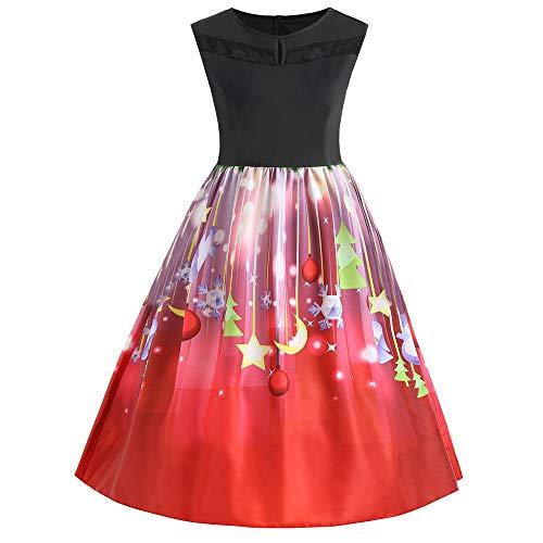 MRULIC Mädchen Kleid Ballkleid Abendkleid Minikleid Weihnachts Geschenk Ärmellos Winterrock...