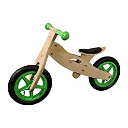 12 pollici bicicletta per bambini Greenhorn senza pedali in legno verde