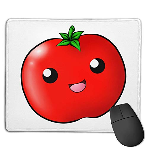 Mouse Pad Cute Tomato Face Rectangle Rubber Mousepad 8.66 X 7.09 Inch Gaming Mouse Pad with Black Lock Edge -