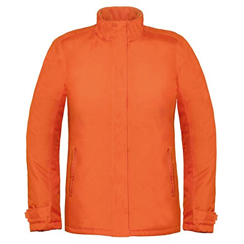 B&C Collection Damen Modern Jacke Gr. L, Orange (Field Jacket Womens Leather)