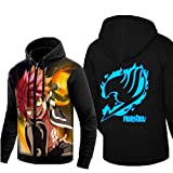 Cosstars Fairy Tail Anime Sudaderas con Capucha Hoodie Sweatshirt Adulto Cosplay Luminoso Zip Jacket 4 L