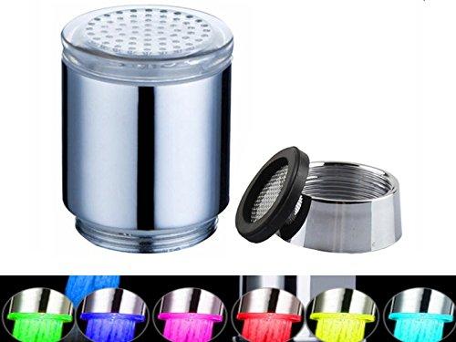 Multi Farben ändern Wasser-Glühen-Dusche Sprühkopf LED Wasserhahn Taps Licht 7 Farbwechsel