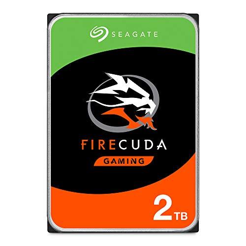 SeagateST2000DXZ02 FireCuda 2 TB, SSHD intern Festplatte (8, 9 cm (3, 5 Zoll), , SATA 6 Gb/s, silber, FFP (Frustfreie Verpackung))