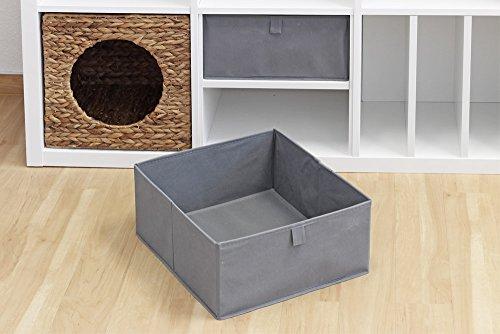Inwona Ikea Kallax Expedit Schubladen/Faltboxen-Einschübe 2er-Set Aufbewahrung Kinderzimmer Bastelutensilien Kleidung Körbe Spielzeug 32 x 14,5 x 36 cm Farbe Anthrazit Grau (Regal-korb-set)