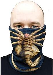 getDigital Alien Facehugger Black Multifunctional Scarf - Versatile 5in1 Accessory for Men, Women, Geeks, Nerd