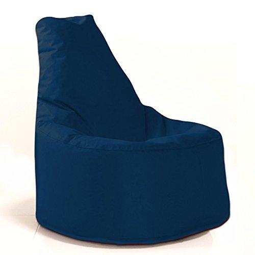 Sitzsack Sessel - für Kinder und Erwachsene - In & Outdoor Sitzsäcke Kissen Sofa Hocker Sitzkissen Bodenkissen mit Styropor Füllung - verschiedene Farben - Bean Bag Sitzsäcke Möbel Kissen (Marine/Blau)