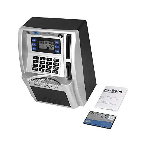 shuaishuang573 ATM Sparkasse einfügen Rechnungen Perfekt für Kinder Geschenk-Dollar Währungs Detector (Silver Dollar Anzeige)