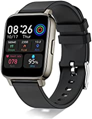 """Smartwatch, 1,69"""" Full Touch Orologio Fitness Uomo Donna Impermeabile IP68 Smart Watch Cardiofrequenzimet"""