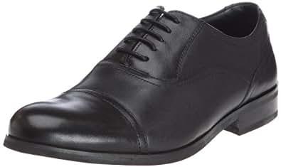 Clarks Brint Cap, Chaussures de ville homme - Noir (Black Leather), 44 EU (9.5 UK)