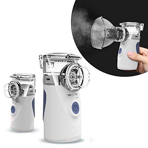 Marlon114Him tragbarer Zerstäuber-Inhalator für den Heimgebrauch, wiederaufladbarer Netz-Luftbefeuchter mit kühlem Nebel-Inhalator, Taschen-Ultraschall-Zerstäuber für Kinder und Erwachsene (Tasche Asthma Medizin)