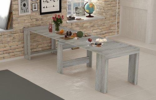 Montefiore design tavolo consolle cemento allungo fino a 3mt, prolunghe incorporate e blocco allunghe. alta stabilità - prodotto interamente da noi in italia
