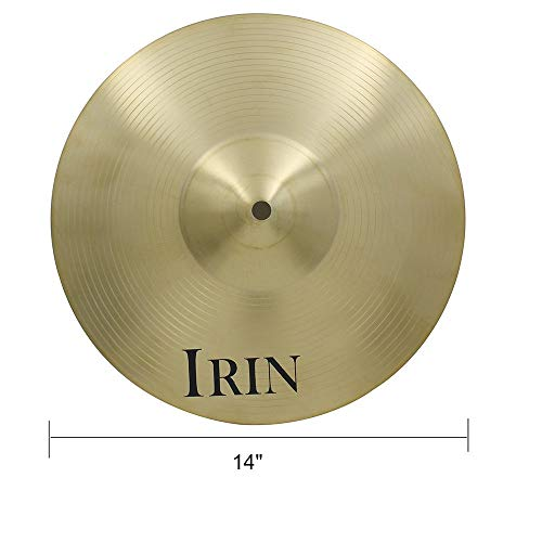 tellendes Produkt Messinglegierung Splash Crash Hi Hat Drum Becken für Schlagzeuger Percussion DIY Part - Golden (Color : Golden, Size : 1#) ()