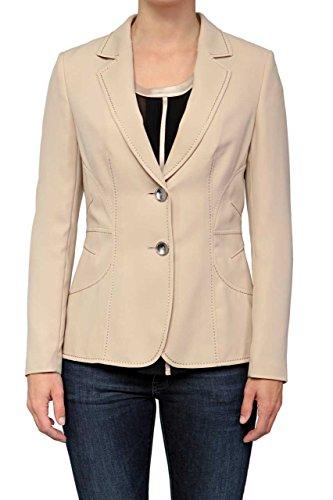 Weibliche Kostüme Die 50 (Basler Damen Blazer SAND, Sakko Business Anzug fürs Büro und den Alltag, Farbe: Beige, Größe:)