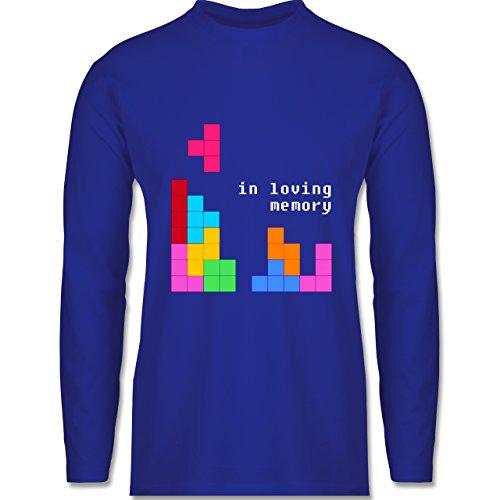 Shirtracer Nerds & Geeks - Tetris in Loving Memory - Herren Langarmshirt Royalblau
