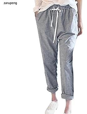 Zarup♥♥♥Pantalones de Harén de los Pantalones Largos Flojos Ocasionales de la Cintura Alta de la Manera de Las...