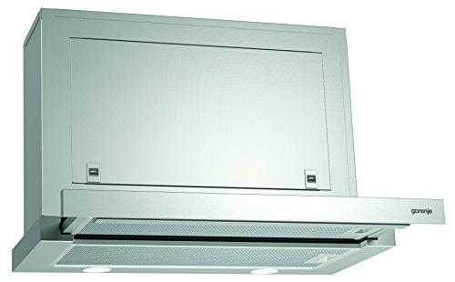 Gorenje BHP 613 E7X Flachschirmhaube / 60 cm / Ab- oder Umluftbetrieb möglich / Anti-Fingerprint-Beschichtung, edelstahl