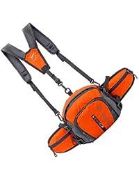 Tradico® Nylon Backpack Messenger Shoulder Fanny Pack Waist Bum Bag Handbag Orange