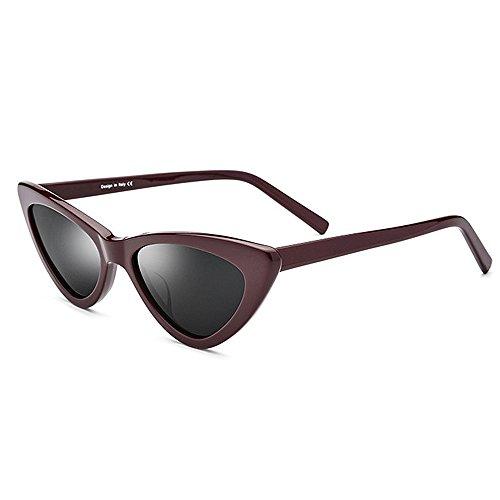 Gxy Frauen Klassische polarisierte Sonnenbrillen, Mode Dreieck Katzenaugen, UV-Schutz Urlaub Reise Schutzbrillen (Color : Black)