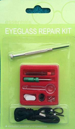 Brillenreparatur-Set für Augenglas-Befestigung-Set für optische Brillen, Sonnenbrillen, Schraubenziehern, Pinzetten, Nasenpads Schrauben, Schnur, Lupen-Set