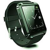 """MyWigo MWG-SW01 - Smartwatch con pantalla multitáctil capacitiva de 1.48"""" (envía/recibe llamadas, monitor sueño, podómetro, cronometro, notificaciones) color negro"""